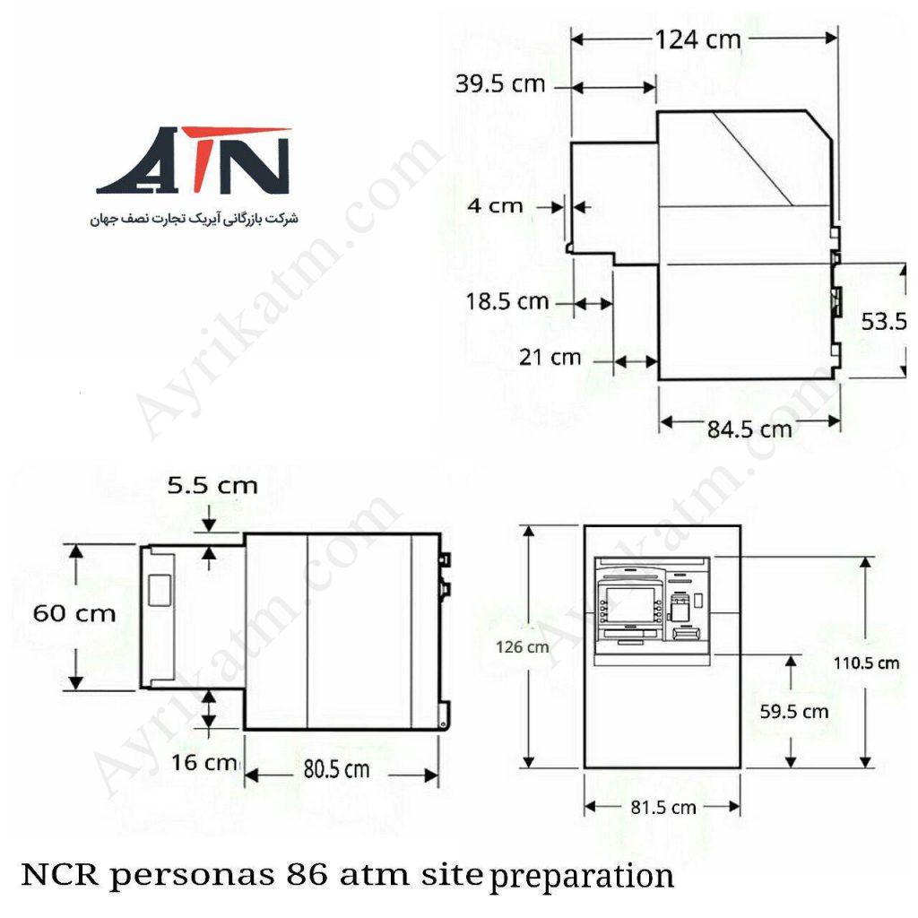 اندازه دستگاه NCR5886